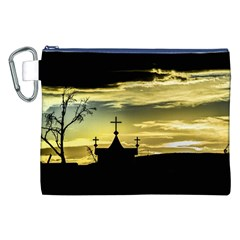 Graves At Side Of Road In Santa Cruz, Argentina Canvas Cosmetic Bag (XXL)