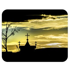 Graves At Side Of Road In Santa Cruz, Argentina Double Sided Flano Blanket (Medium)