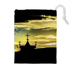 Graves At Side Of Road In Santa Cruz, Argentina Drawstring Pouches (Extra Large)