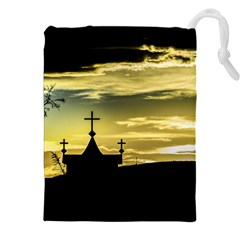 Graves At Side Of Road In Santa Cruz, Argentina Drawstring Pouches (XXL)