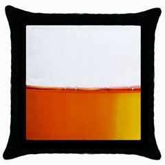 The Wine Bubbles Background Throw Pillow Case (Black)