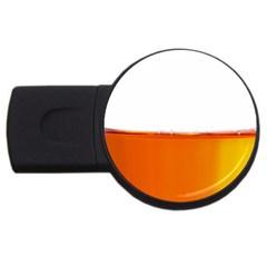 The Wine Bubbles Background USB Flash Drive Round (1 GB)