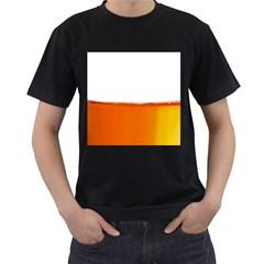 The Wine Bubbles Background Men s T-Shirt (Black)