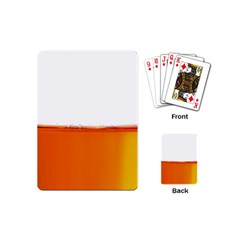 The Wine Bubbles Background Playing Cards (Mini)
