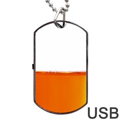 The Wine Bubbles Background Dog Tag USB Flash (One Side)