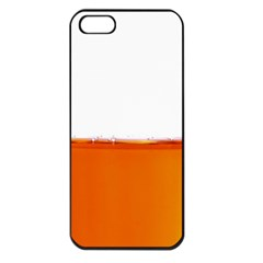 The Wine Bubbles Background Apple iPhone 5 Seamless Case (Black)