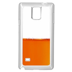 The Wine Bubbles Background Samsung Galaxy Note 4 Case (White)