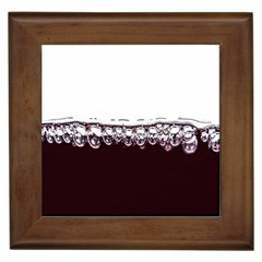 Bubbles In Red Wine Framed Tiles