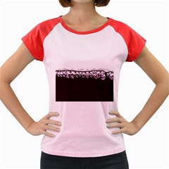Bubbles In Red Wine Women s Cap Sleeve T-Shirt