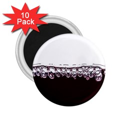 Bubbles In Red Wine 2 25  Magnets (10 Pack)