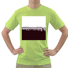 Bubbles In Red Wine Green T Shirt