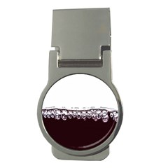 Bubbles In Red Wine Money Clips (Round)