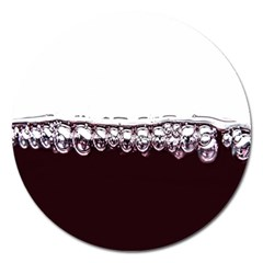 Bubbles In Red Wine Magnet 5  (Round)