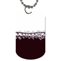 Bubbles In Red Wine Dog Tag (One Side)