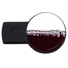 Bubbles In Red Wine USB Flash Drive Round (2 GB)