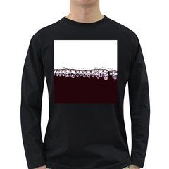 Bubbles In Red Wine Long Sleeve Dark T-Shirts