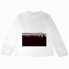 Bubbles In Red Wine Kids Long Sleeve T-Shirts