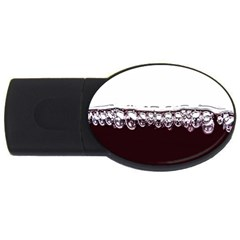 Bubbles In Red Wine Usb Flash Drive Oval (4 Gb)