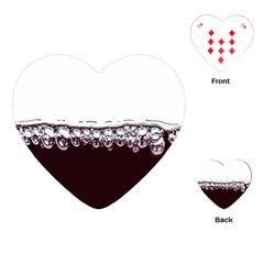 Bubbles In Red Wine Playing Cards (Heart)