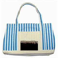 Bubbles In Red Wine Striped Blue Tote Bag