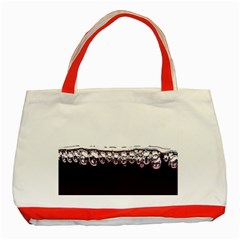 Bubbles In Red Wine Classic Tote Bag (red)