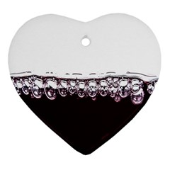 Bubbles In Red Wine Heart Ornament (Two Sides)