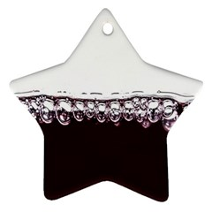 Bubbles In Red Wine Star Ornament (Two Sides)