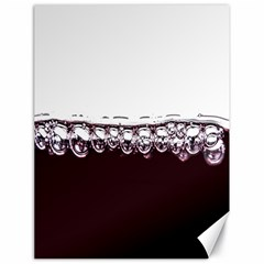 Bubbles In Red Wine Canvas 18  X 24