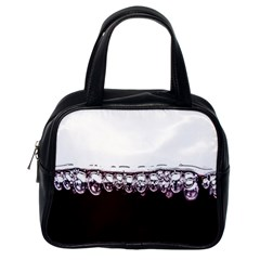 Bubbles In Red Wine Classic Handbags (One Side)