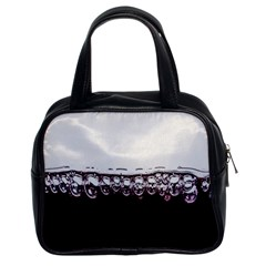 Bubbles In Red Wine Classic Handbags (2 Sides)