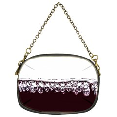 Bubbles In Red Wine Chain Purses (one Side)