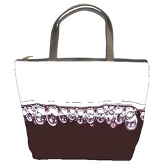 Bubbles In Red Wine Bucket Bags