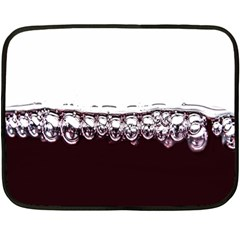 Bubbles In Red Wine Fleece Blanket (Mini)