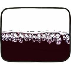 Bubbles In Red Wine Double Sided Fleece Blanket (Mini)