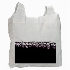 Bubbles In Red Wine Recycle Bag (One Side)