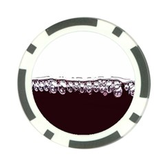 Bubbles In Red Wine Poker Chip Card Guard (10 Pack)