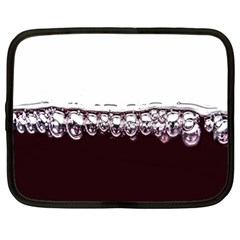 Bubbles In Red Wine Netbook Case (XL)