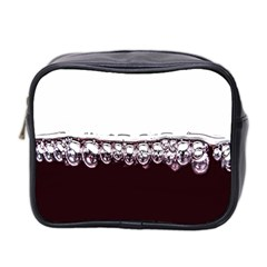 Bubbles In Red Wine Mini Toiletries Bag 2 Side