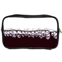 Bubbles In Red Wine Toiletries Bags