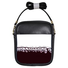 Bubbles In Red Wine Girls Sling Bags