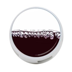 Bubbles In Red Wine 4 Port Usb Hub (one Side)