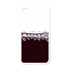 Bubbles In Red Wine Apple Iphone 4 Case (white)