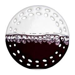 Bubbles In Red Wine Ornament (Round Filigree)