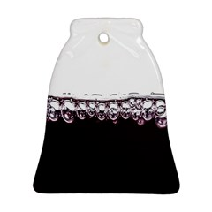 Bubbles In Red Wine Bell Ornament (Two Sides)