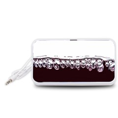 Bubbles In Red Wine Portable Speaker (White)