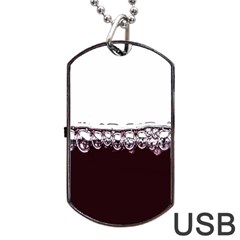 Bubbles In Red Wine Dog Tag Usb Flash (one Side)