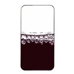 Bubbles In Red Wine Apple iPhone 4/4s Seamless Case (Black)