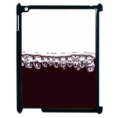 Bubbles In Red Wine Apple iPad 2 Case (Black)