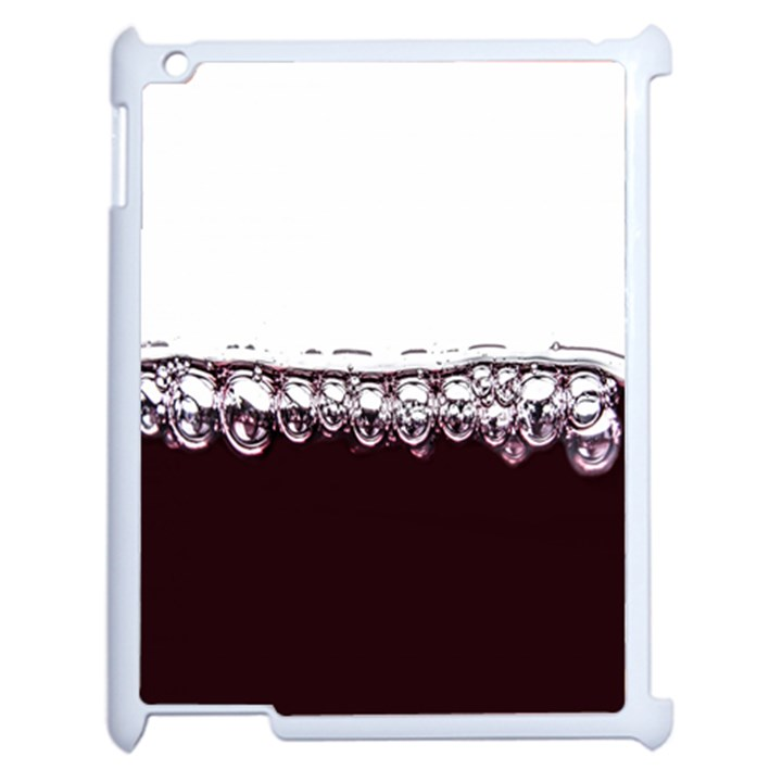 Bubbles In Red Wine Apple iPad 2 Case (White)