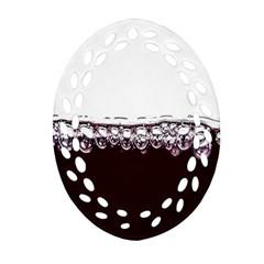 Bubbles In Red Wine Oval Filigree Ornament (two Sides)